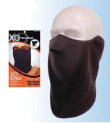 Black Half Cover Face Ski Mask w/ Fleece Neck Guard Scarf Winter Balaclava