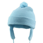 Toddler Beanie Hat with Ear Flaps - Blue W21S09F