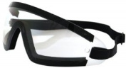 Bobster Wrap Around Goggles,Black Frame/Clear Lens,one size