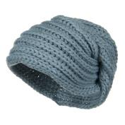 Women's Knit Wrap Beanie - Blue W16S41B