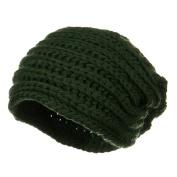 Women's Knit Wrap Beanie - Green W16S41B