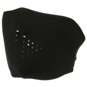 Oversized Neoprene Half Face Mask - Black W11S18A