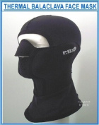 Proline Thermal Balclava Face Mask Neoprene With Lycra Hood & Neck Band, Black , Size = Medium