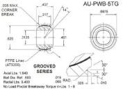 Aurora Bearing Company PWB-5TG; Grooved B=.312 - D=.687 - W=.437 - H=.317