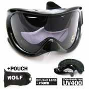 Black Ski Goggles Snowboard Glasses Skiing Sun Sports Adult Man Woman Lens Snow