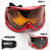 Ski Snowboard Snow Glasses Sun Goggles Sports Lens Anti Fog Adult Men Women Red