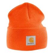 Carhartt - Acrylic Watch Cap - Bright Orange, branded beanie ski hat