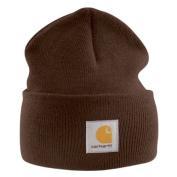 Carhartt - Acrylic Watch Cap - Dark Brown Branded Beanie Ski Hat