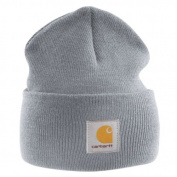 Carhartt - Acrylic Watch Cap - Grey branded beanie ski hat