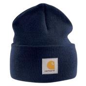 Carhartt - Acrylic Watch Cap - Navy Branded Beanie Ski Hat
