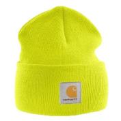 Carhartt - Acrylic Watch Cap - Yellow Branded Beanie Ski Hat