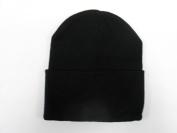 LONG BEANIE///BLACK///SKULL CAP...KNIT SKI HAT///WARM FOR THE WINTER!!!