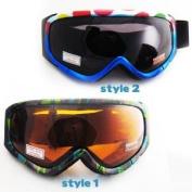 Ski Snowboard Snow Glasses Sun Goggles Sport Lens Anti Fog Elastic Strap G89 New