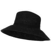 Sewn Braid Winter Fashion Hat - Black W27S56A