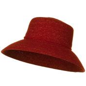 Sewn Braid Winter Fashion Hat - Red W27S56A