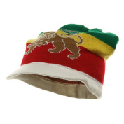 Regular Lion Rasta Beanie Visor Hat-White W27S16C