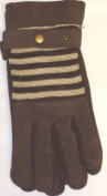 Suede and Microfiber Lined Luxurious Looking One Size Brown Ski Gloves for Men