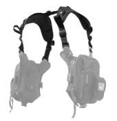 Civilian Covert Anatomic RG Padded Deluxe Shoulder Harness, Black