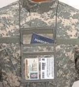 Vertical Neck ID Holder ACU Pattern for ACU Uniform
