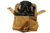 Tacprogear Gas Mask Pouch, Coyote Tan