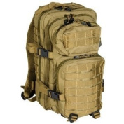 Mil-Tec Military Army Patrol Molle Assault Pack Tactical Combat Rucksack Backpack 30L Coyote