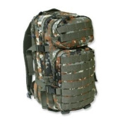 Mil-Tec Military Army Patrol Molle Assault Pack Tactical Combat Rucksack Backpack 30L Flecktarn Camo