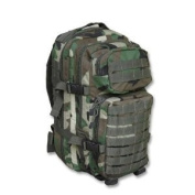 Mil-Tec Military Army Patrol Molle Assault Pack Tactical Combat Rucksack Backpack 30L Woodland
