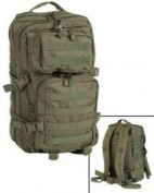 Mil-Tec Military Army Patrol Molle Assault Pack Tactical Combat Rucksack Backpack 50L Olive Green