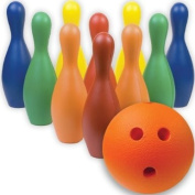 BSN Multi-Colour Foam Bowling Pin Set With ball