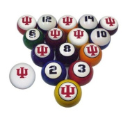 Sports Fan Products College Billiard 16 Ball Numbered Set - Indiana