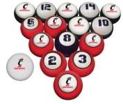 Sports Fan Products College Billiard 16 Ball Numbered Set - Cincinnati