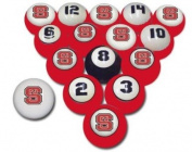 Sports Fan Products College Billiard 16 Ball Numbered Set - NC State