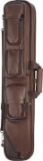 Lucasi Brown Leatherette Soft Pool Cue Case with Black Accents, 2B/2S