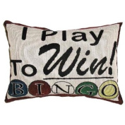 I Play to Win Throw Pillow