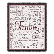 Family Forever Throw Blanket Cranberry