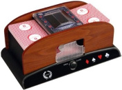 Da Vinci Wood Grain Deluxe 1 to 2 Deck Automatic Playing Card Shuffler