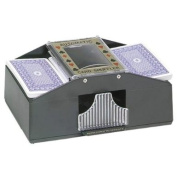 Automatic 2-deck Playing Card Shuffler Machine, Battery Operated
