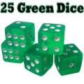 25 Green Dice - 16mm