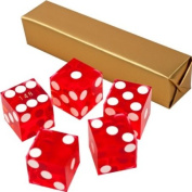 19mm A Grade Serialised Set of Casino Dice-Red
