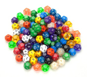 100+ Pack of Random D12 Polyhedral Dice in Multiple Colours By Wiz Dice