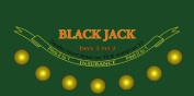 Blackjack Sublimination Felt Layout
