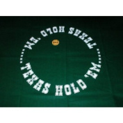 Worldwise Imports Hold Em Mat with Dealer Button