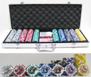 500 Piece High Roller Clay Poker Chips with Laser Effects