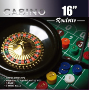 Da Vinci 41cm Roulette Wheel Game Set with 120 chips, Felt Layout, and Rake