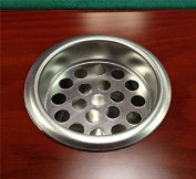 1 Stainless Steel Drop In Ashtray Screen for Poker Table Drink Holders