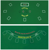 Da Vinci 2-Sided 90cm x 180cm Texas Holdem & Blackjack Casino Felt Layout