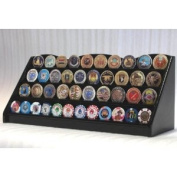 4 Rows Challenge Coin Casino Chip Display Rack Holder Stand -Black