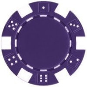 50 Clay Composite Dice Striped 11.5-Gramme Poker Chips