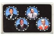Rat Pack Collector Poker Chip Set Frank Sinatra Dean