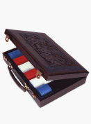 Bicycle Poker Chip. Deluxe Leather 300 Piece Case By Sterling ,American Puzzles